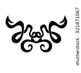 tattoo tribal lower back vector.... | Shutterstock .eps vector #321871067
