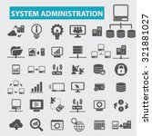 system administration icons | Shutterstock .eps vector #321881027