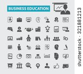 business education icons | Shutterstock .eps vector #321881213