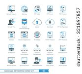 data and networks icon set 03 | Shutterstock .eps vector #321897857