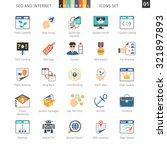 seo internet and development... | Shutterstock .eps vector #321897893