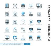 data and networks icon set 01 | Shutterstock .eps vector #321898193