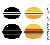 vector burger icon set isolated ... | Shutterstock .eps vector #321898913