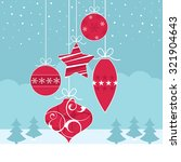 a set of christmas baubles... | Shutterstock .eps vector #321904643