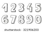 Hand Drawn Numbers Vector...