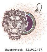 leo. zodiac sign | Shutterstock .eps vector #321912437