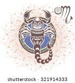 scorpio. zodiac sign   Shutterstock .eps vector #321914333