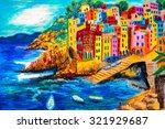 Pastel Painting   Riomaggiore ...