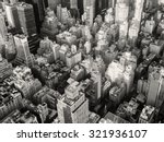 black and white urban landscape ... | Shutterstock . vector #321936107