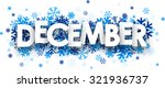 december sign with snowflakes