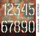 stencil plate numbers in... | Shutterstock .eps vector #321959813