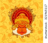 vector design of kathakali... | Shutterstock .eps vector #321965117
