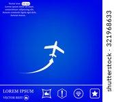 plane icon | Shutterstock .eps vector #321968633