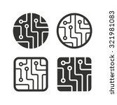 Circuit Board Icons. Technolog...