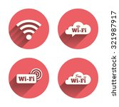 free wifi wireless network... | Shutterstock .eps vector #321987917