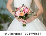 beautiful wedding bouquet in... | Shutterstock . vector #321995657