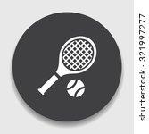 tennis  icon | Shutterstock .eps vector #321997277