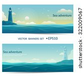Vector Banners. Blue Sea...
