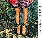 Stylish Autumn. Fashion Lady O...