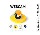 webcam icon  vector symbol in...