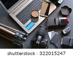desktop with photography... | Shutterstock . vector #322015247