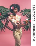 Tropical Afro American Pin Up...