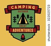 badge camping outdoor... | Shutterstock .eps vector #322025723