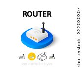 router icon  vector symbol in...
