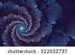Abstract Fractal  Blue Violet...