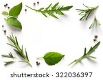 spices and herbs. variety of... | Shutterstock . vector #322036397