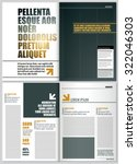 magazine layout design template ... | Shutterstock .eps vector #322046303