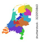 map of the netherlands | Shutterstock .eps vector #322053863