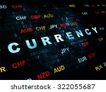 banking concept  pixelated blue ... | Shutterstock . vector #322055687