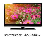 tv with the flowers on white | Shutterstock . vector #322058087