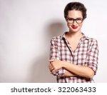 high fashion look.glamor... | Shutterstock . vector #322063433