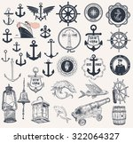 mega set of nautical elements | Shutterstock .eps vector #322064327