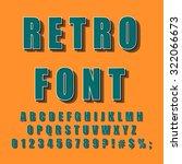 vintage alphabet. retro font...   Shutterstock .eps vector #322066673