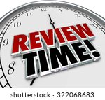 review time words in 3d letters ... | Shutterstock . vector #322068683