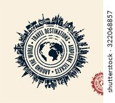 travel stamp  travel background ... | Shutterstock .eps vector #322068857