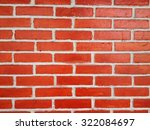 red wall  background of brick... | Shutterstock . vector #322084697