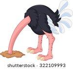 Ostrich Cartoon Has Buried A...