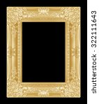 the antique gold picture frame... | Shutterstock . vector #322111643