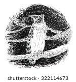 watercolor birds  brown fish... | Shutterstock . vector #322114673