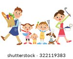 parent and child who enjoy... | Shutterstock .eps vector #322119383