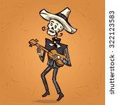 dia de muertos. skeleton... | Shutterstock .eps vector #322123583