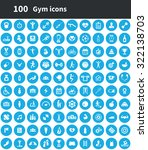 gym 100 icons universal set for ... | Shutterstock .eps vector #322138703