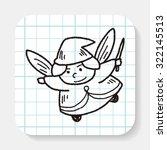 fairy doodle | Shutterstock .eps vector #322145513