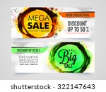mega sale with 50  discount on... | Shutterstock .eps vector #322147643
