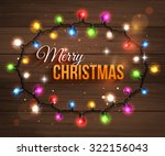 christmas background with... | Shutterstock .eps vector #322156043