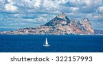 Small photo of Rock of Gibraltar on a sunny day seen from sea
